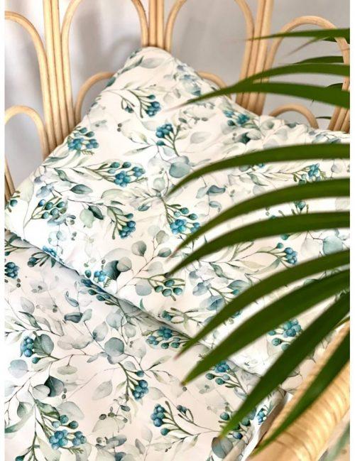 Poduszka bambusowa z uszami dla dziecka liście Yosoy 30X35