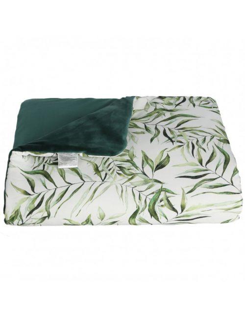 Komplet do wozka bambus+ velvet liście 40x30 100x80 Yosoy