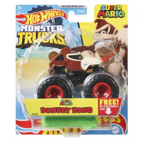 Hot Wheeles metalowe Monster Tucks Autko Super Mario Donkey Kong GWK21