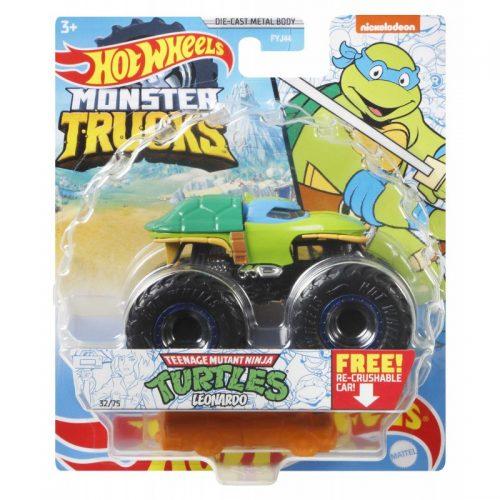 Hot Wheeles Monster metalowy Tucks Autko Turtles Leonardo GWK20