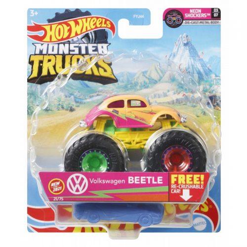Hot Wheeles metalowy Monster Tucks Autko Volkswagen Beetle GTH59