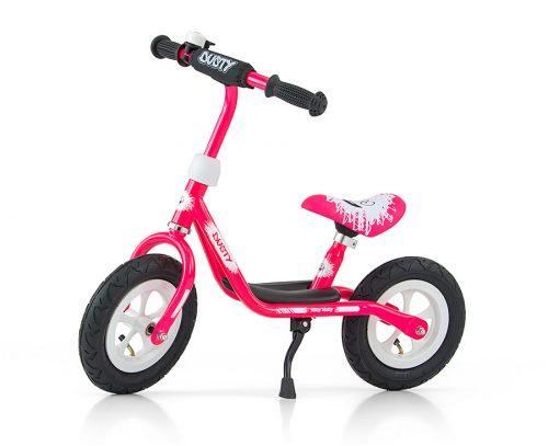 Rowerek biegowy Dusty Pink-white MillyMally 12 Cali