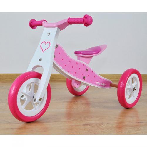 Rowerek biegowy, jeździk dla dzieci 2w1 Look hearts Milly Mally