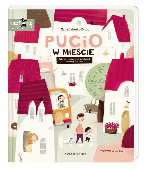 Zabawy językowe ksiażka dla najmłodszych uczę się mówić Pucio