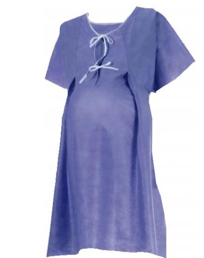 Koszula do porodu jednorazowa z włókniny Matodress rozm s m