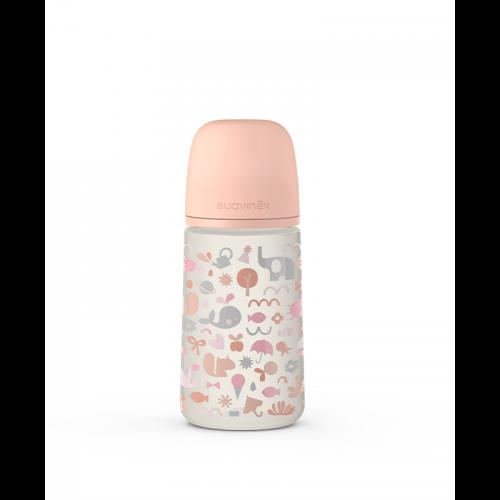Butelka do karmienia Suavinex Memories 270ml smoczek średni różowa