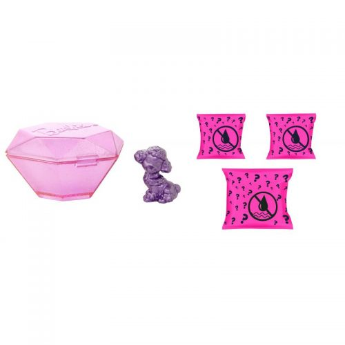 Barbie brokatowe zwierzątka saszetka color reveal GTT10