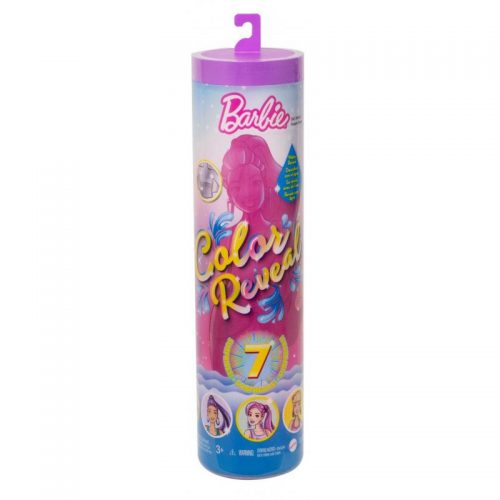 Barbie color reveal brkoatowa niespodzianka w tubie GTR93