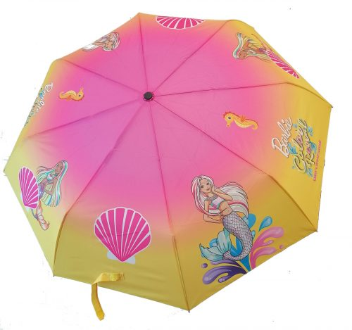Składana parasolka dla dziewczynki Barbie color reveal 97cm