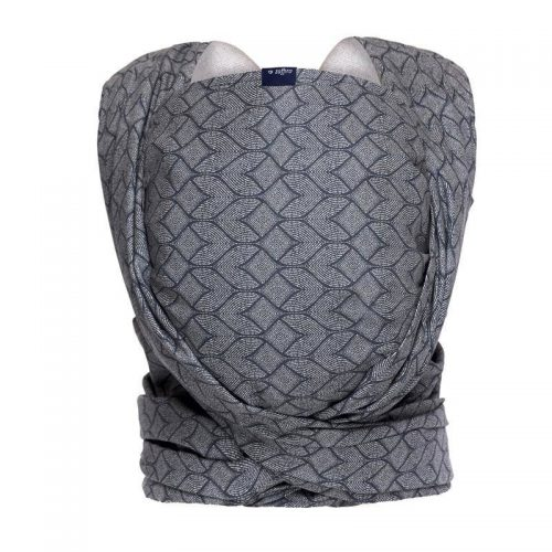 Womar chusta do noszenia niemowląt Zaffiro Be Close N17 chustonoszenie Geo blue steel