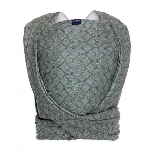 Womar chusta do noszenia niemowląt Zaffiro Be Close N17 chustonoszenie Geo bottle green