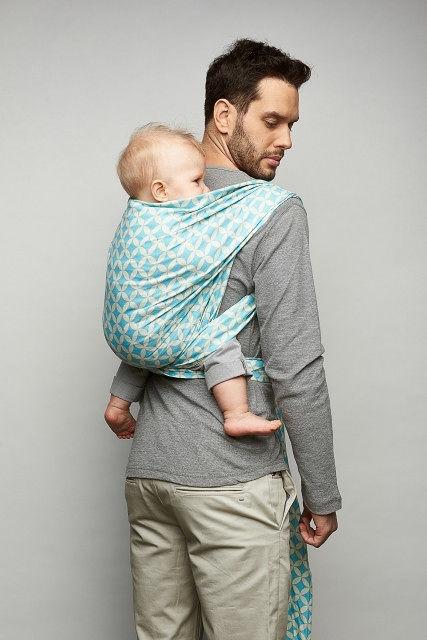 Womar chusta do noszenia niemowląt Zaffiro Be Close N17 chustonoszenie Grafitowe liście