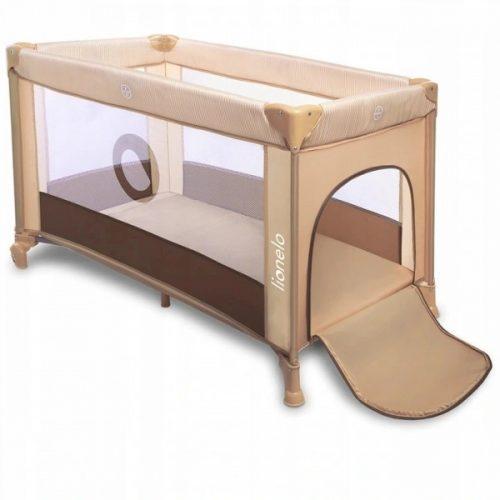 Łóżeczko turystczne 120x60  Stefi beige chocolate Lionelo łóżeczko podróżne