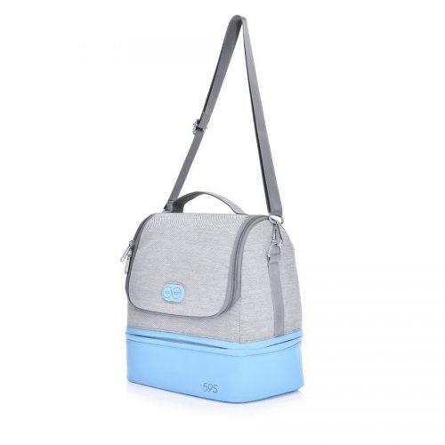 59S Sterylizator Torba do wózka i na ramię torba do sterylizacji 59S UVC LED MOMMY BAG niebieska