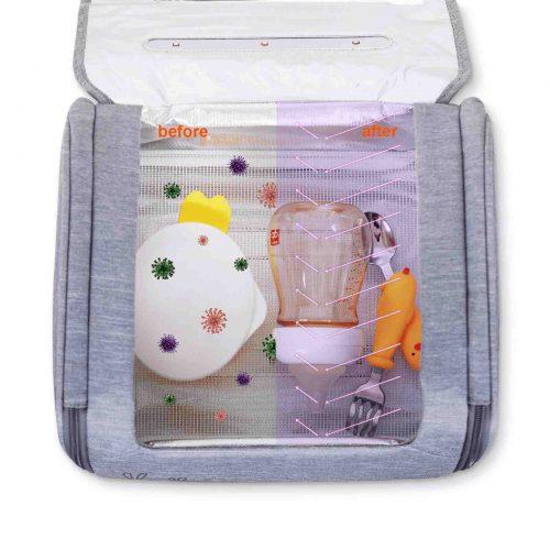 59S Sterylizator do zabawek samoczków butelek przenośna torba do sterylizacji 59S UVC LED TOYBAG