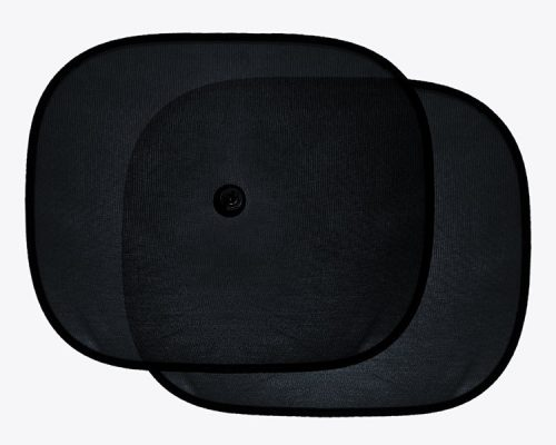 Czarne przeciwsłoneczne osłonki szyb 2 szt 44x35cm