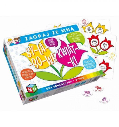 Gra edukacyjna sylabowe kwiatki nauka i zabawa