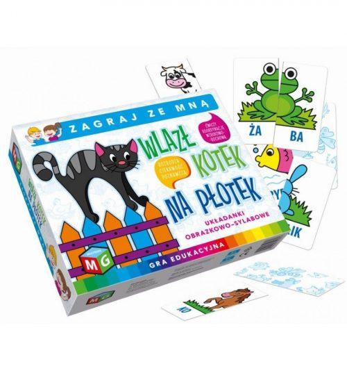 Układanki słowno obrazkowe dla najmłodszych gra edukacyjna