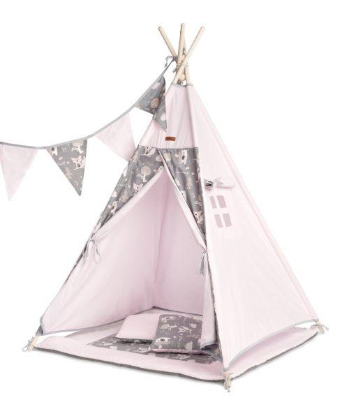 Namiot tipi dla dziecka kryjówka domek polana różowy