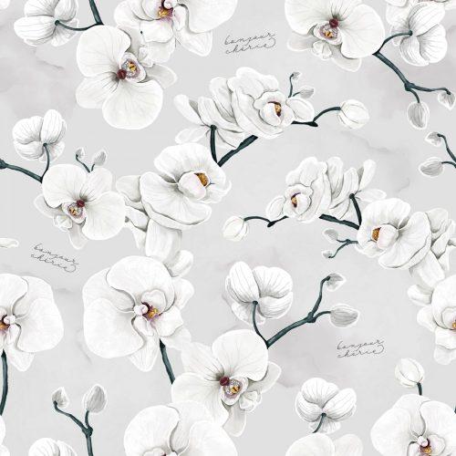Bonjour Cherie bambusowy kocyk do fotelika Orchidea z minky sepia rose rozmiar 90x90 cm
