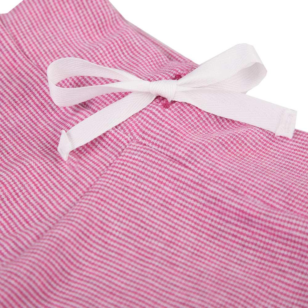 Ewa Klucze spodnie niemowlęce Unique paski bordo 74
