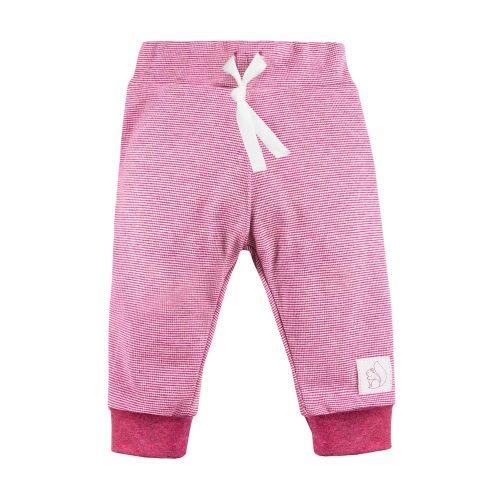 Ewa Klucze spodnie niemowlęce Unique paski bordo 98