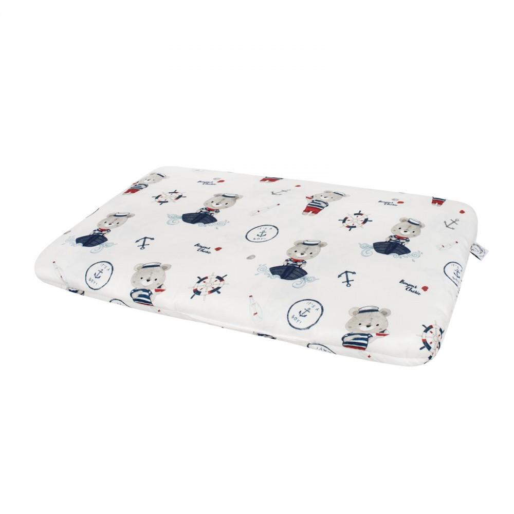 Bonjour Cherie bambusowa poduszka Miś Marynarz rozmiar 30x30 cm