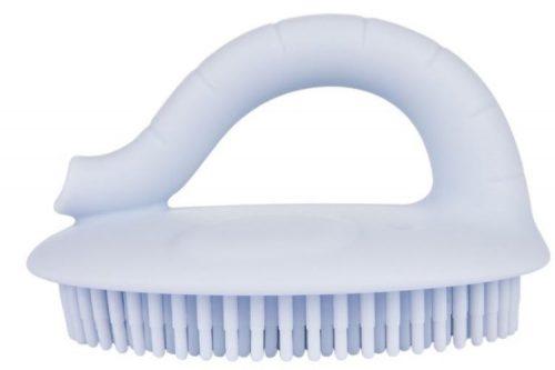 Silikonowa myjka dla dzieci do kąpieli Canpol niebieska 9/115