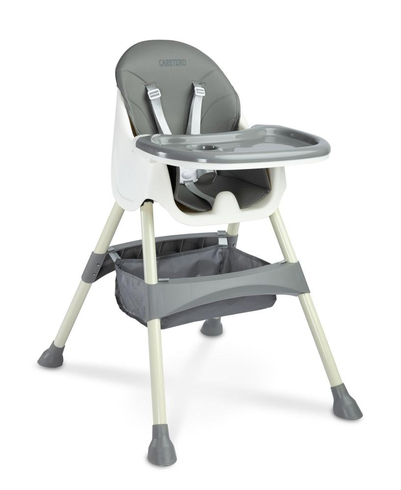 Caretero Krzesełko do karmienia Bill 2w1 szare