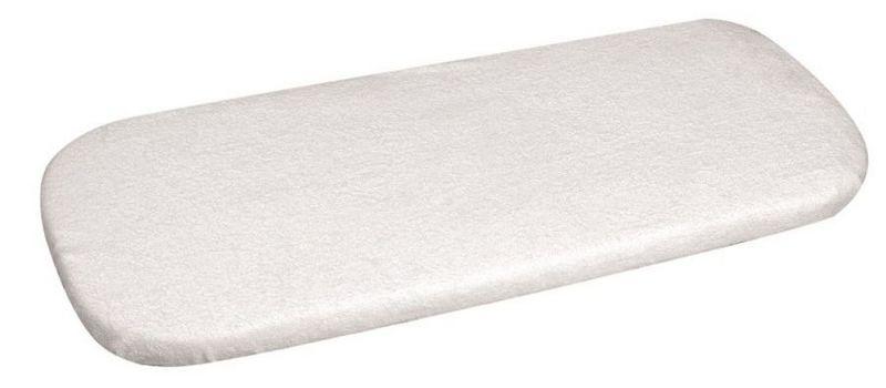 Nieprzemakalne prześcieradełko z gumką na materacyk do kołyski 40x90 białe