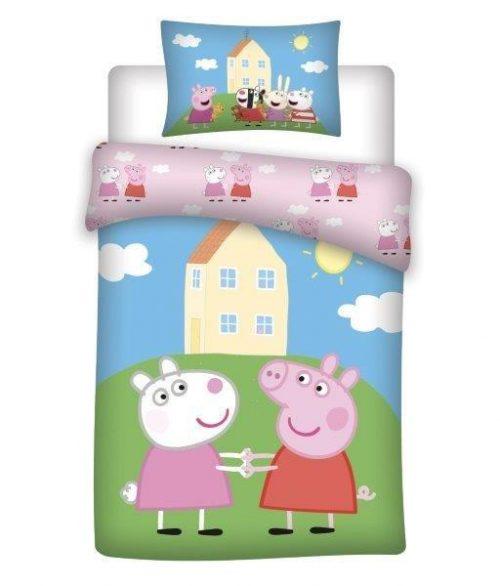 Bawełniana pościel świanka Peppa domek pepy135x100 do łóżeczek 120x60 i 140x70