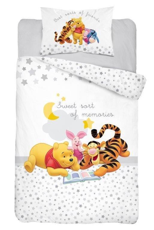Bawełniana pościel Kubuś Puchatek Prosiaczek Tygrysek 135x100 do łóżeczek 120x60 i 140x70