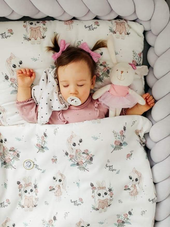 Bonjour Cherie bambusowa poduszka Miś Little Man rozmiar 30x30 cm