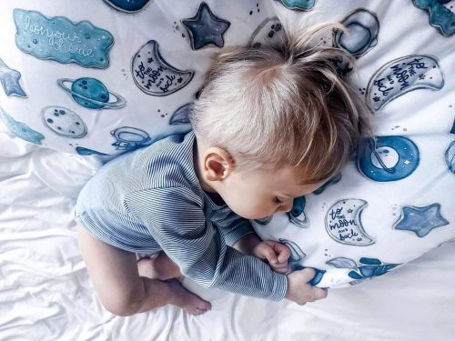 Bonjour Cherie bambusowa poduszka Niemowlaka Baby Shower rozmiar 25x30 cm