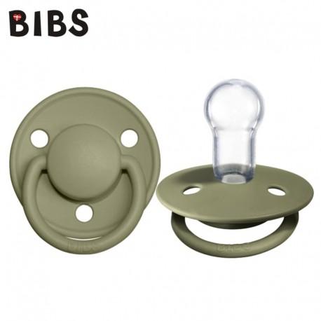 Bibs de lux smoczek uspokajający silikonowy Olive 0-36m+