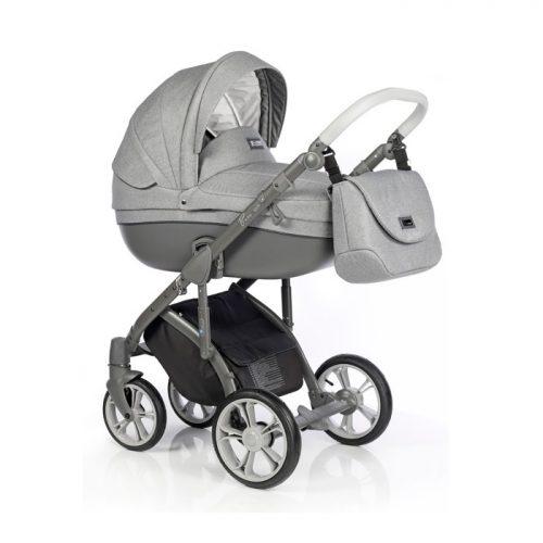 Wózek głeboko spacerowy Roan Bass Soft zestaw 2w1 kolor Grey Dots