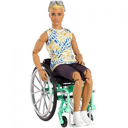 Lalka Ken na wózku inwalidzkim GWX93 Barbie