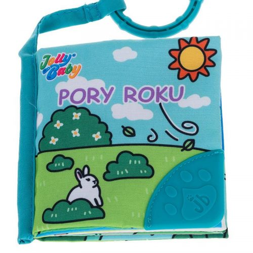 Miękie książeczki gryzaki dla dziecka 4w1 0m+ Jolly baby JB80559