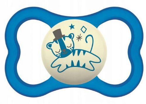 Smoczek uspokajający Mam Air Night 6m+ niebieski kot