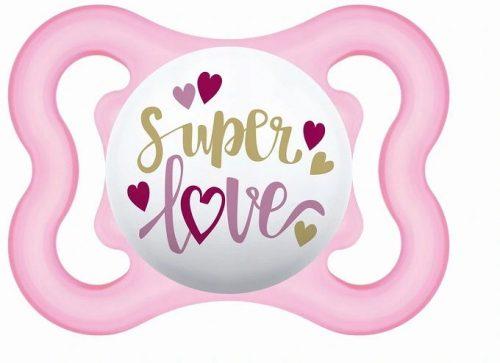Smoczek silikonowy Mam Baby Air 2-6 m róż super love