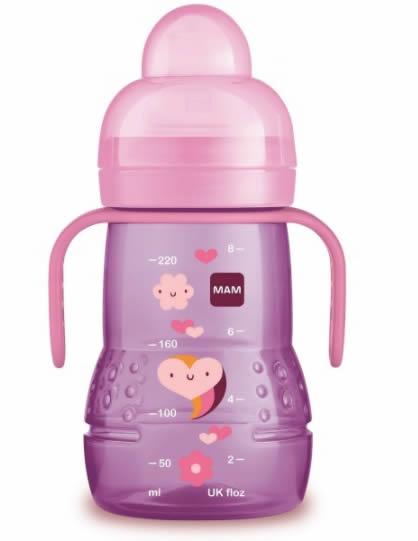 Butelka treningowa – kubek niekapek 220ml Mam różowa serce 4m+