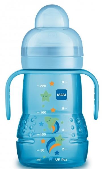 Butelka treningowa – kubek niekapek 220ml Mam niebieski gwiazdka 4m+