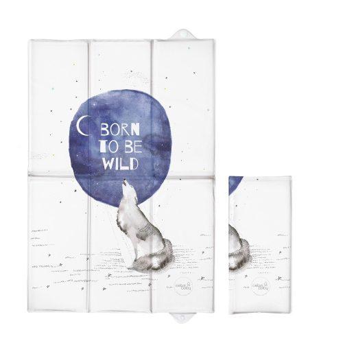 Składana mata turystyczna do przewijania 60x40 Waterocolor world born to be wild Ceba