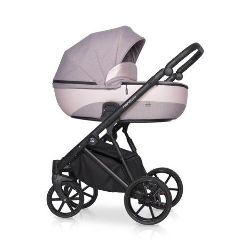 Wielofunkcyjny wózek głęboko spacerowy Riko Nano Pro zestaw 2w1 kolor Pearl Pink + GRATIS!