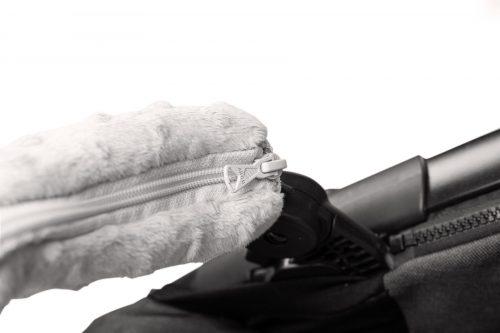 Zestaw do wózka wkładka + motylek + osłonki na pasy i pałąk Deluxe Las granatowy
