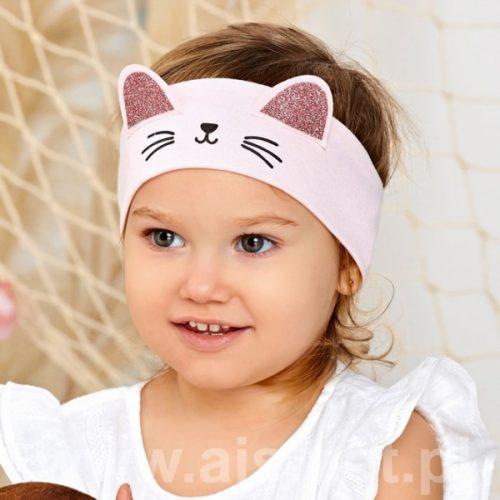 Opaska dziewczęca kotek rozmiar 44-46 szara