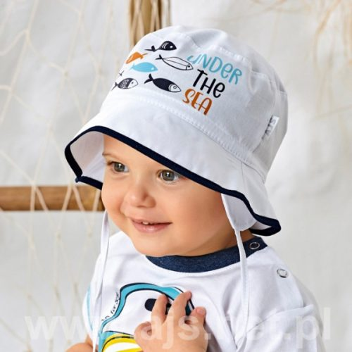 Kapelusik chłopięcy na lato rozmiar 48 błękit