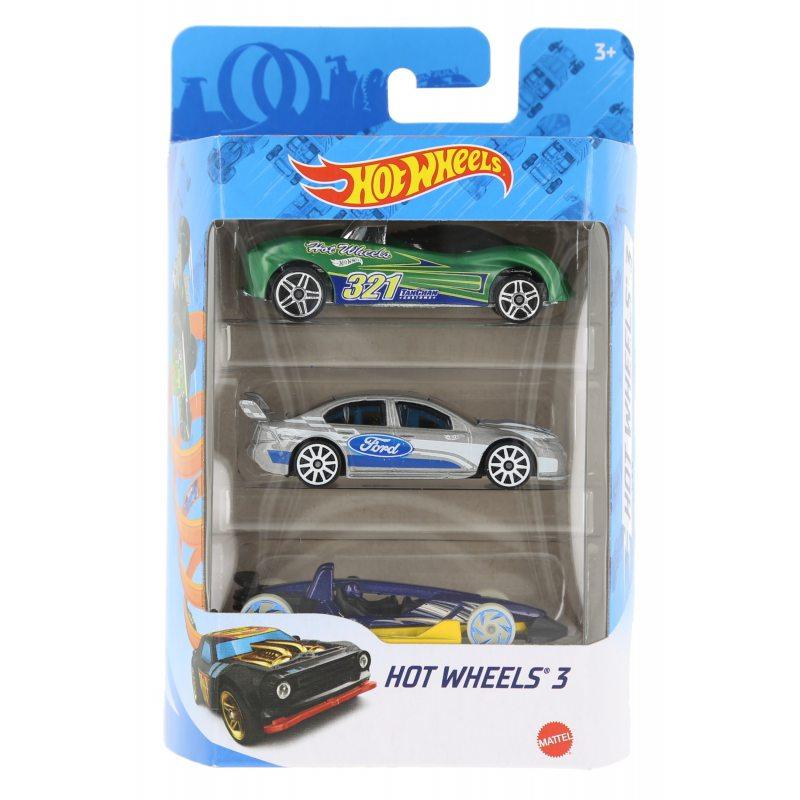 Hot wheels samochodziki 3-pak hot wheels 3 zestaw 6