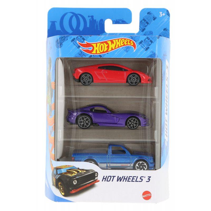 Hot wheels samochodziki 3-pak hot wheels 3 zestaw 10