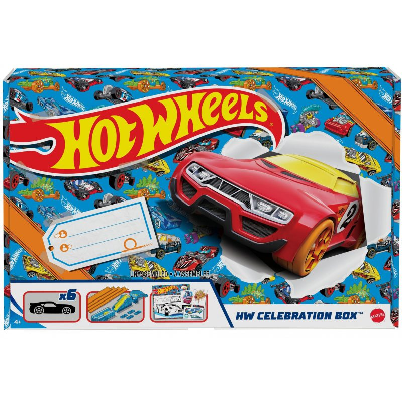 Hot wheels zestaw prezentowy GWN96 zestaw zawiera 6 autek i tory 4+